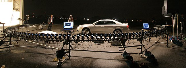 Car ad with 120 cameras